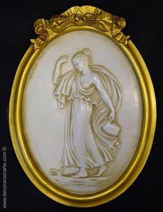 Espejo De Pared Blanco Ovalado 45 X 38cm Barroca Antiguo Reproducción Vintage Low Price Muebles Antiguos Y Decoración