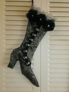 Victorian Christmas boot...made by joylynn brenner
