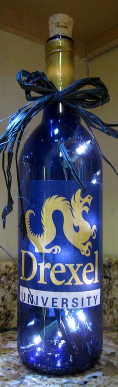 Lighted Bottle Drexel University