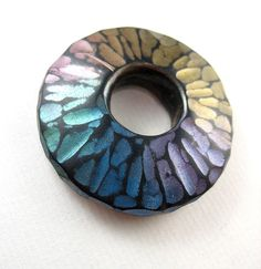 Frosted Facet Doughnut front shiny black by artybecca, via Flickr