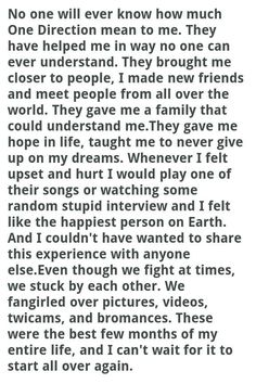NO one will ever truly know, directioner for life