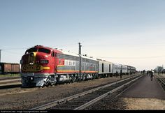 RailPictures.Net Photo: ATSF 42C Atchison, Topeka & Santa Fe (ATSF) EMD F7(A) at Riverbank, California by Drew Jacksich