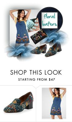 """""""floral loafers"""" by gilliewill ❤ liked on Polyvore featuring Chloé, Lipsy and Yves Saint Laurent"""
