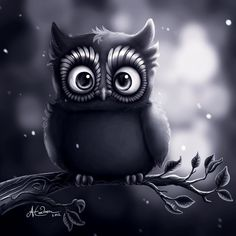 Night Owl - Illustration by A Erickson Owl Wallpaper Iphone, Animal Wallpaper, Painting & Drawing, Buho Tattoo, Owl Artwork, Owl Pictures, Owl Pics, Owl Cartoon, Owl Always Love You