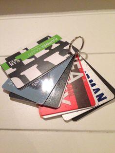 Sleutelhanger door al mijn klantenkaarten en dan in mijn handtas: bij de hand en toch is mijn portomonee een stuk dunner!