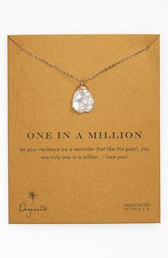 Dogeared 'One in a Million' Boxed Keshi Pearl Necklace available at #Nordstrom