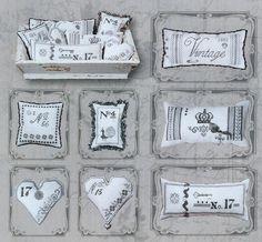 numero vintage pillows