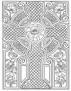 Celtic knots adult coloring book 30 pages lozs art lorraine kelly pdf downl Poppy Coloring Page, Cross Coloring Page, Printable Adult Coloring Pages, Colouring Pages, Coloring Books, Celtic Dragon, Celtic Art, Celtic Crosses, Celtic Patterns