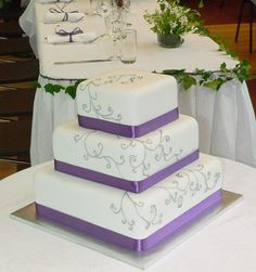 Purple and Silver Wedding Cake - Marriage Stuff
