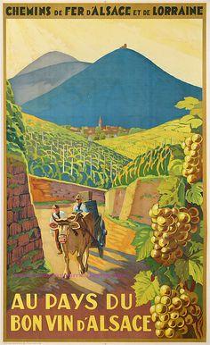 Chemin de fer d' Alsace et de Lorraine - Au Pays du bon vin d' Alsace.