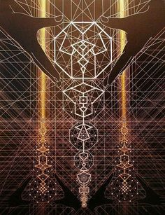 The architecture of GOD. The universe is created by a consciousness which manifests in physical reality through a blueprint that we call Sacred Geometry which repeats over and over giving the illusion of linear time. -Thoth