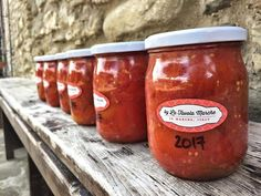 Homegrown tomatoes jarred for winter! One of the most often asked questions: How do you jar your tomatoes?! Learn how we preserve our tomatoes in the old school Italian way during our Pickle Preserve & Confit Workshop in August!