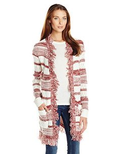 MINKPINK Womens Sunday Frill Fringe Cardigan MaroonWhite Large -- You can get additional details at the image link.(This is an Amazon affiliate link and I receive a commission for the sales)