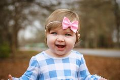 Perfect pink glitter bow for baby and toddler girls from sassy bow co.