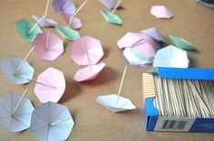 Paper umbrella template and tutorial