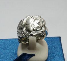 Silberring Hildesheimer Rose Mattglanz 20,8  SR588 von Atelier Regina  auf DaWanda.com