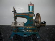 Vintage Child's Toy Sewing Machine - Hand Crank - Made in Germany