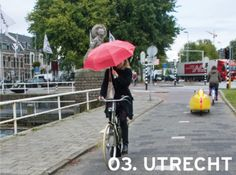 The 20 Most Bike-Friendly Cities In The World: Utrecht, Netherlands Utrecht, Bicycle Friendly Cities, Present Day, Netherlands, Amsterdam, Cool Pictures, Van, Bike, World