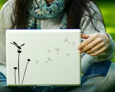Dandelion & Dragonfly Decal Laptop Decal iPad by Zapoart on Etsy, $9.99
