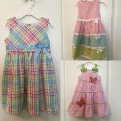 Little Girls Spring/Easter Dresses Size 4T-Bundle Of 3 #BonnieJean