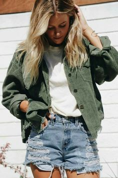 Forest Green Lexie Corduroy Jacket - Forest Green Lexie Corduroy Jacket – elisonrd Source by ElisonRd - Denim Jacket Outfit Winter, Green Jacket Outfit, Winter Outfits, Edgy Outfits, Classy Outfits, Cool Outfits, Fashion Outfits, Jackets Fashion, Rain Jackets