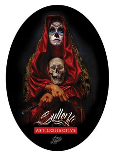 Sullen Art Collective 30.5 cm (12 inch) full colour Acuna Badge printed sticker. Printed on high quality Kodak Professional stock with Gloss finish. Artwork by Paolo Acuna from Divinity Tattoo, Pho…