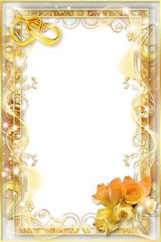 Borders And Frames, Borders For Paper, Marco Digital, Photo Frame Ornaments, Wedding Invitation Background, Digital Photo Frame, Birthday Frames, Png Photo, Gold Invitations