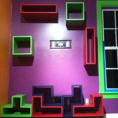 Tetris inspired game room.