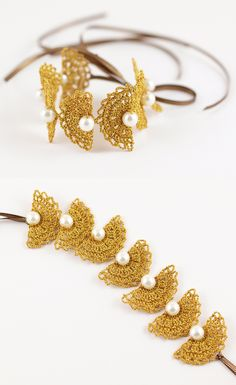 Handmade Crochet Leaf Bracelet