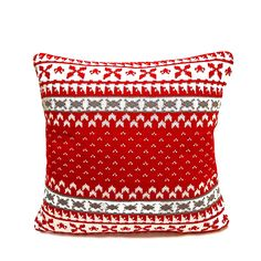 Debage Inc / Cream Fair Isle Knitted Polyester Filled Pillow