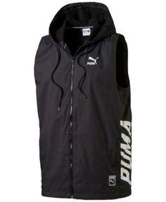 PUMA Puma Men'S Logo Zip Hoodie Vest. #puma #cloth # coats