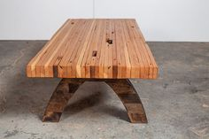 douglas fir slat table