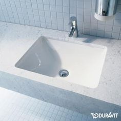 Duravit Starck 3 Vanity washbasin W: 49 D: 36.5 cm undercounter installation white without tap hole with overflow