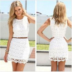 Дешевое Женщины летнее платье новый белый кружева рукавов симпатичные свободного покроя летние платья свадебные платья roupas femininas WQW1045, Купить Качество Платья непосредственно из китайских фирмах-поставщиках: