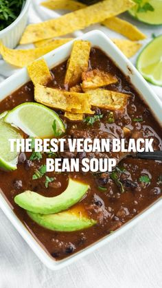 Vegan Bean Recipes, Vegan Mexican Recipes, Bean Soup Recipes, Vegan Dinner Recipes, Delicious Vegan Recipes, Raw Food Recipes, Healthy Recipes, Ethnic Recipes, Healthy Soups
