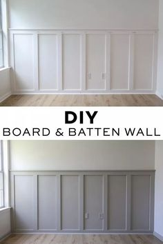 How to easily install a DIY board and batten wall in any room! This budget friendly and simple DIY board and batten accent wall will add instant character to your home! Grey board and batten with whit Home Renovation, Home Remodeling, Architecture Renovation, Modern Architecture, Diy Wand, Board And Batten, Diy Interior, Interior Modern, Diy Home Improvement