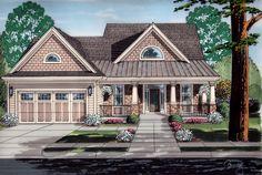 House Plan 98642   Cottage   Craftsman    Plan with 2055 Sq. Ft., 4 Bedrooms, 3 Bathrooms, 2 Car Garage