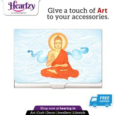 Keep Blessing Buddha with you on the Go with elegant Card Holders. Shop beautiful Buddha products at heartzy.in get Free Shipping!