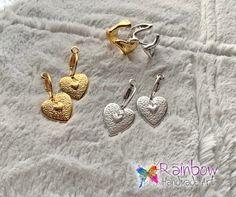 #handmade #heart #earrings Heart Earrings, Cufflinks, Handmade, Accessories, Heart Pendants, Hand Made, Wedding Cufflinks, Handarbeit, Jewelry Accessories