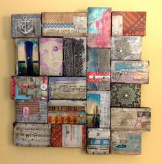 Reflections of Gratitude and Offerings 2, Mixed Media Wood Collage. $245.00, via Etsy.