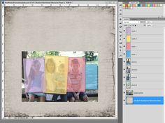 Great technique for your scrapbook pages! #digiscrapping #Digital Scrapbooking Studio