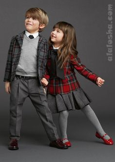ALALOSHA: VOGUE ENFANTS: Back to School with Dolce & Gabbana