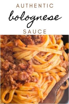 You have not lived until you have made this authentic Bolognese sauce! A little time with just a few ingredients and you'll have the most delicious pasta dish you've ever tasted! How To Make Bolognese, Best Bolognese Sauce, Side Dish Recipes, Pasta Recipes, Dinner Recipes, Italian Spaghetti And Meatballs, White Sauce Lasagna, Authentic Italian Desserts, Cooking For Three