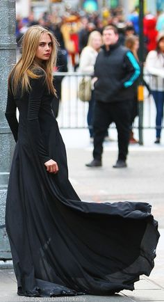 flowy city gown