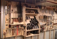Wall tools storage system.