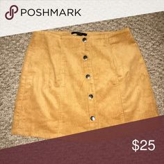 Skirt Tan suede skirt with buttons. Worn once. Forever 21 Skirts Mini