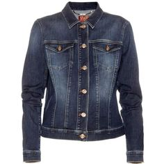 7 For All Mankind Classic Trucker Denim Jacket ($275) ❤ liked on Polyvore featuring women's fashion, outerwear, jackets, blue jean jacket, jean jacket, denim jacket, blue jackets en 7 for all mankind jacket