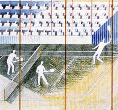 Eric Ravilious - 'Tennis' preparatory design for the British Pavilion of the Paris International Exhibition of 1937