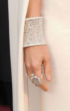 white sparkle cuff