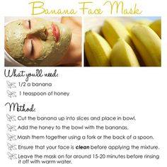 Banana face mask, did this today, left it on for almost an hour and skin felt really soft after!